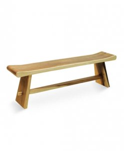 solid suar wood bench