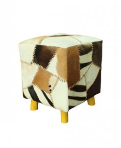 genuine goat skin patchwork design