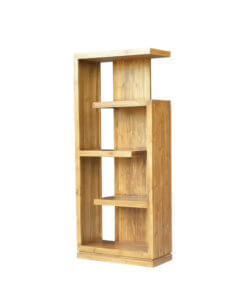 solid wood book rack