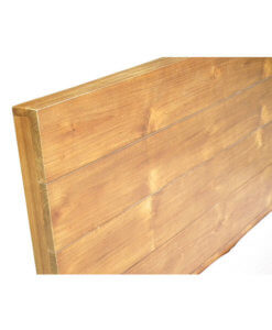 single size bed frame made of solid wood