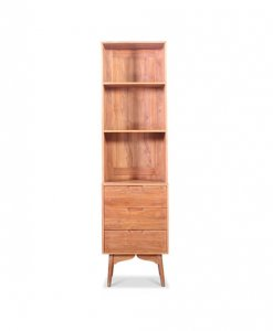 Scandinavian display shelf wood