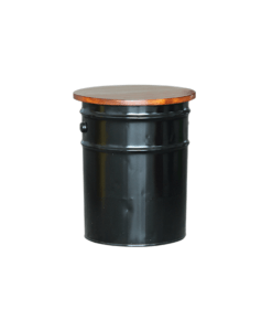 storage drum stool black