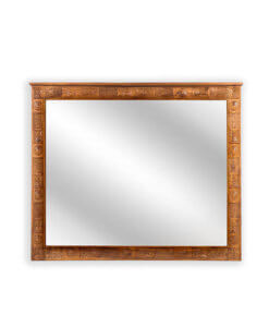 handcarved solid wood mirror