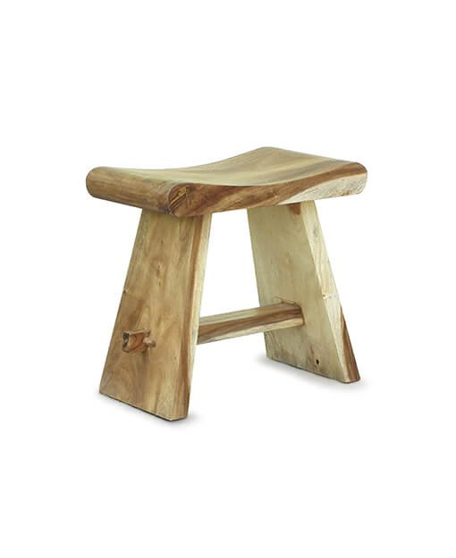 suar wood dining stool