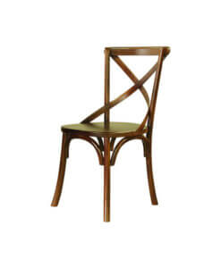 scandinavian dining chair in dark brown