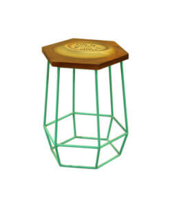 chic cafe stool in metal leg