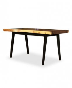industrial design solid wood dining table