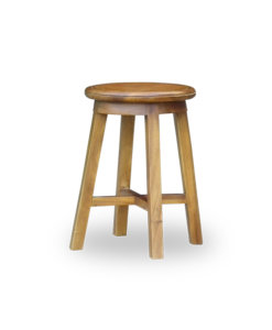 wooden stool suitable for wearing shoes