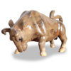 solid wood crafted bull