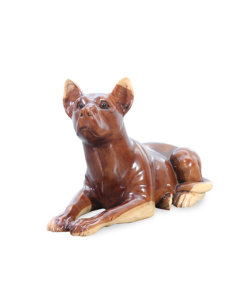 solid wood crafted dog