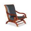Solid Wood Leather Chair