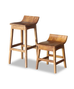 Solid Wood high bar chair and short Stool