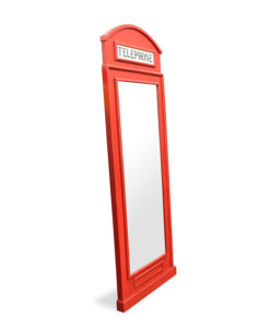 Red Wall mount standing mirror