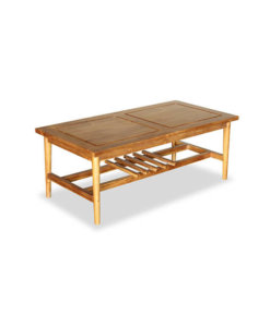 mid century solid teak wood coffee table