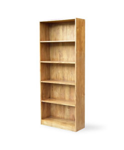 solid wood book rack with backing
