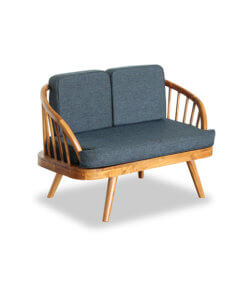 Solid Teak Wood Loverseat Scandinavian