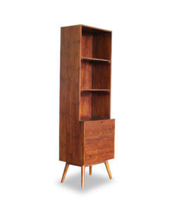 Solid Teak Wood Display Storage Rack