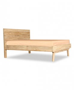Scandinavian Solid Wood bed frame