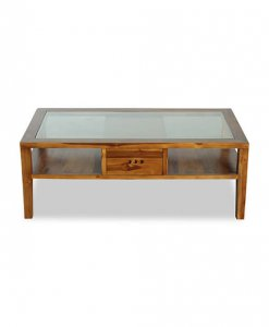 living room coffee table with glass top and storage