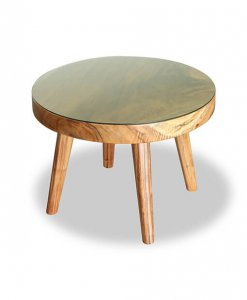 monkeypod scandinavian round dining table