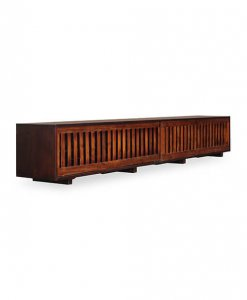 Solid teak wood tv console sg
