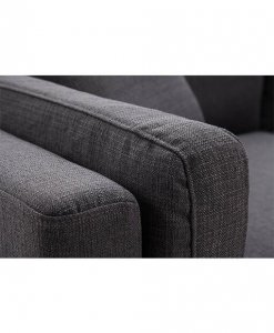 Fabric sofa on sturdy metal leg