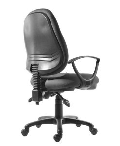 Black office chair perfect for home office and study desk