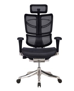 Ergonomic office chair providing the right posture when you sit to do work all day.