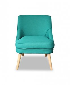 Scandinavian living room fabric armchair