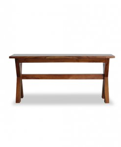 Solid Teak Wood cross design dining bench