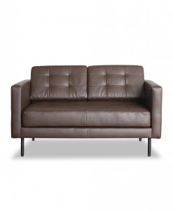 industrial design leather settee