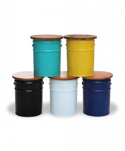 Industrial Storage Drum Stool With Different Colours