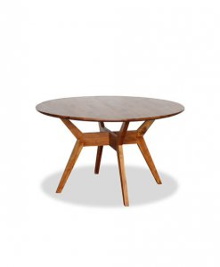 Beautiful Round Shaped Solid Teak Wood Dining Table