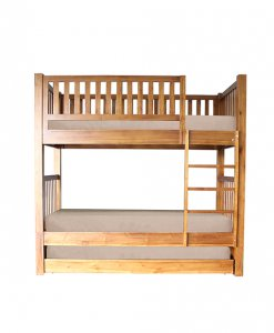 Solid Wood Bunk bed with pull out bed
