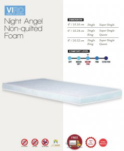MAXCOIL VIRO Night Angel Non Quilted Foam Mattress