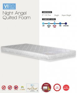 MAXCOIL VIRO Night Angel Quilted Foam Mattress