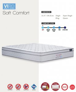 MAXCOIL VIRO Soft Comfort Orthopedic Individual Pocket Spring Mattress