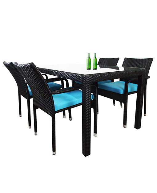 Boulevard Outdoor Dining Table And