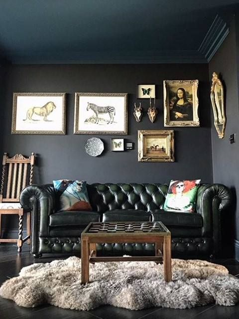 Eclectic Dark Green Chesterfield Sofa