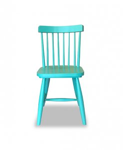 cottage design dining chair in turquoise