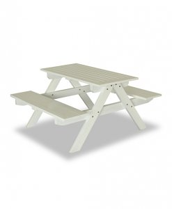 outdoor picnic table and bench colored